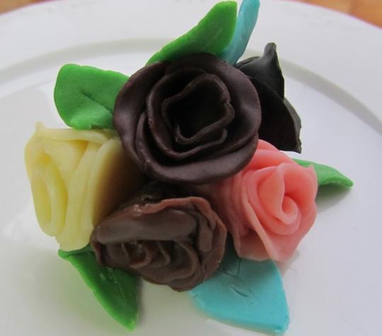 Flores de chocolate