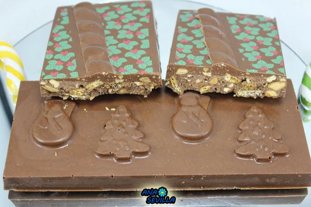 Turrón de galletas y chocolate