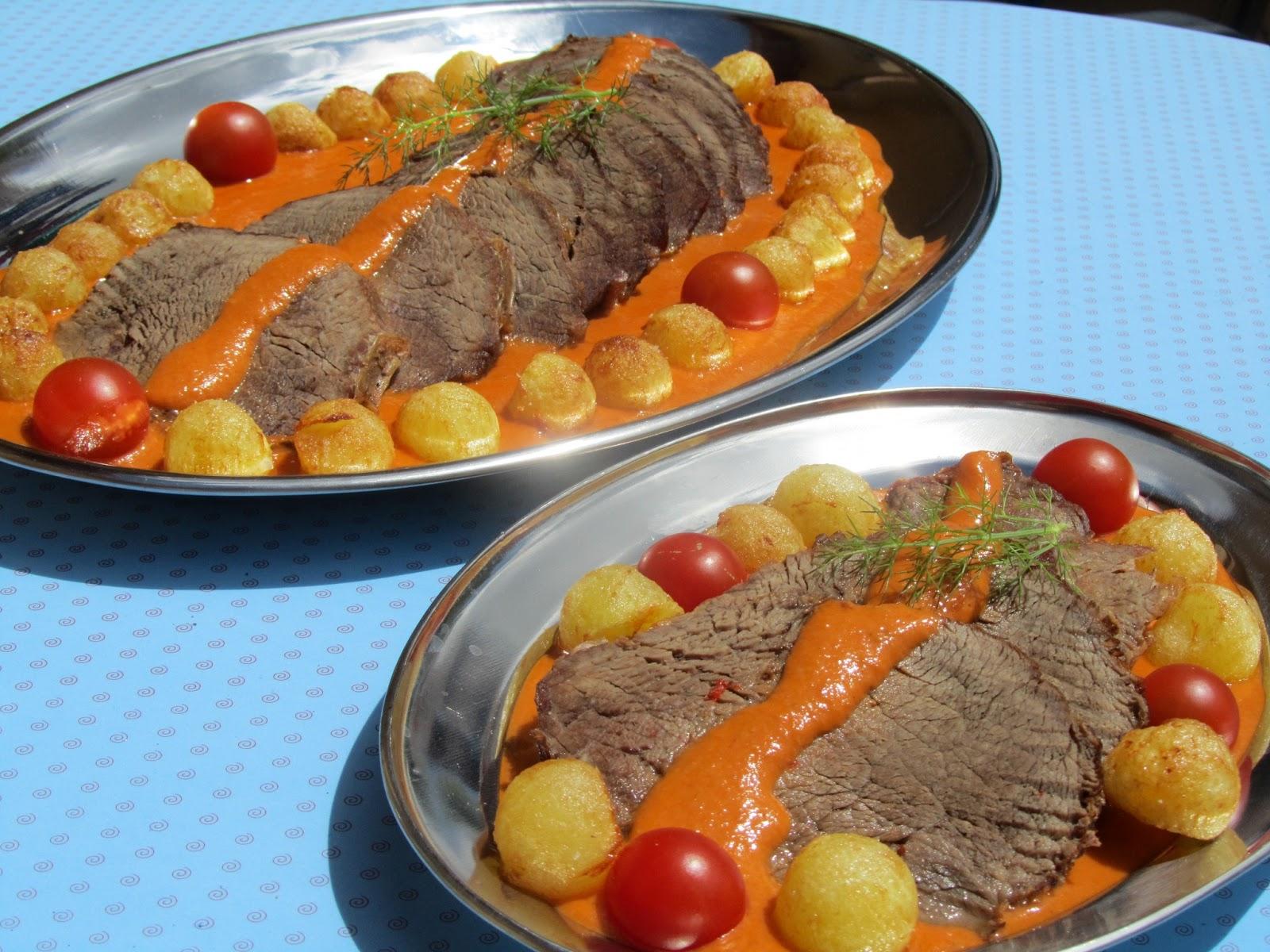 Roti (o redondo) de ternera en salsa