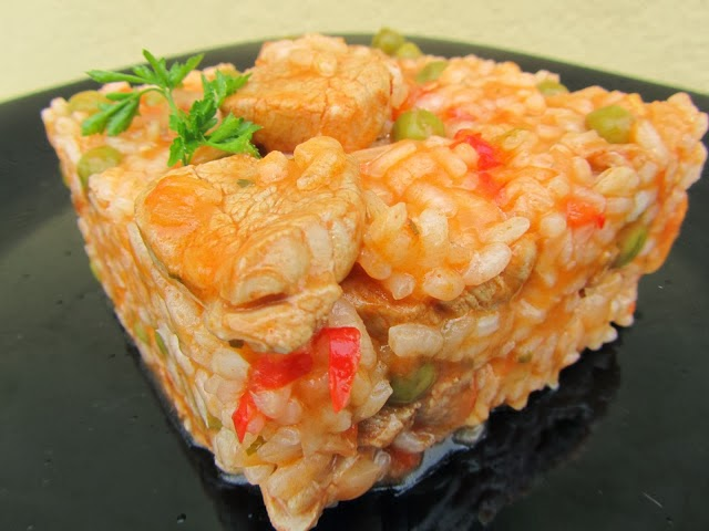 Arroz de solomillo adobado