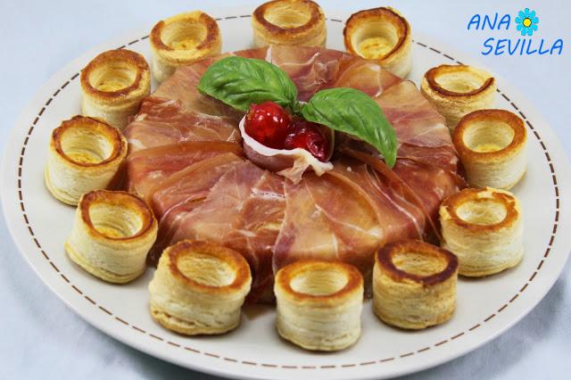 Pastel de jamón serrano