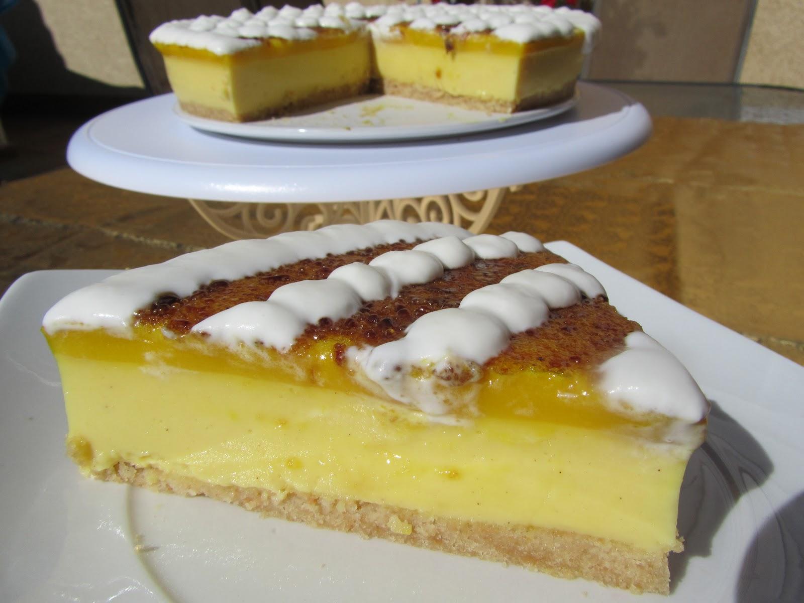 Tarta de crema de San José y yema
