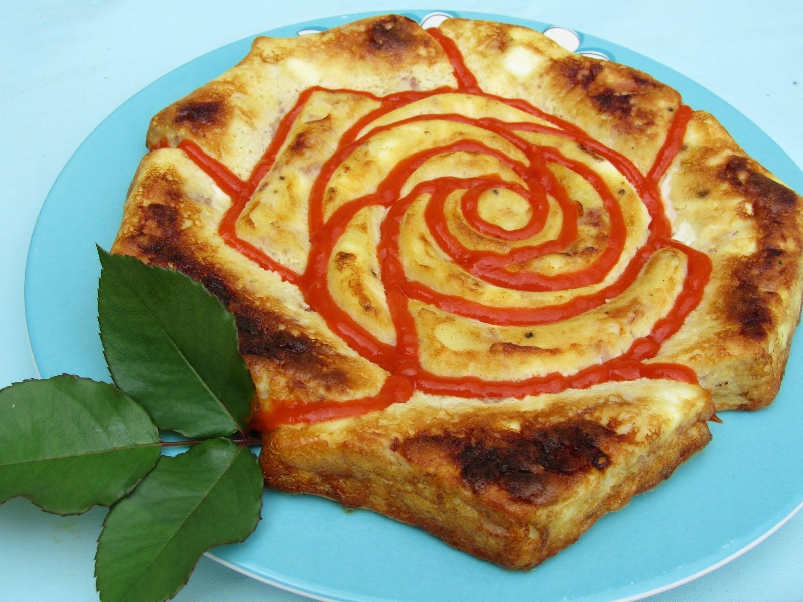 Pastel de queso de Burgos y jamón