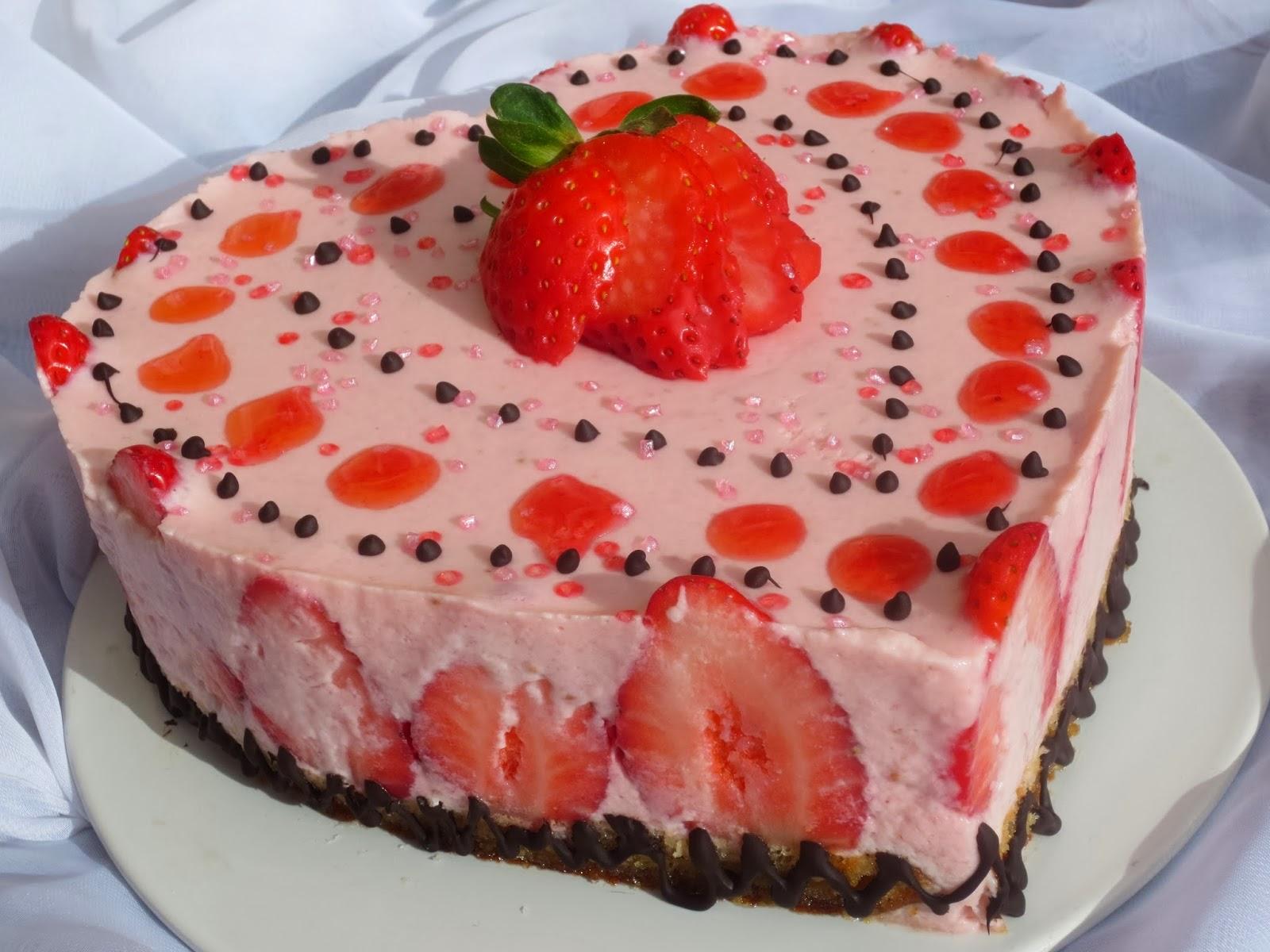 Tarta de fresa y yogur