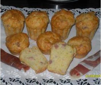 Muffins al prosciutto y queso