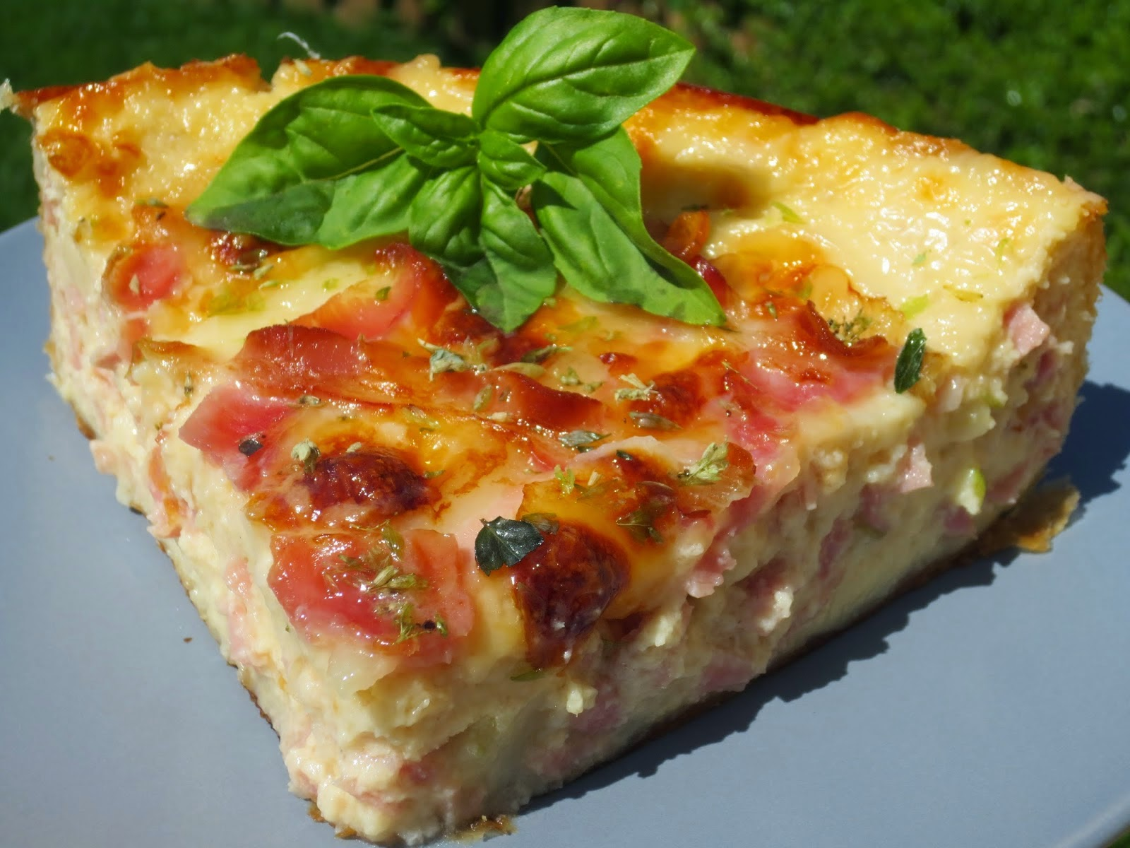 Quiche de croque-pizza
