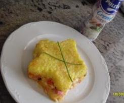Pastel de salchichas y arroz