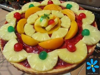 Quesada con frutas Thermomix