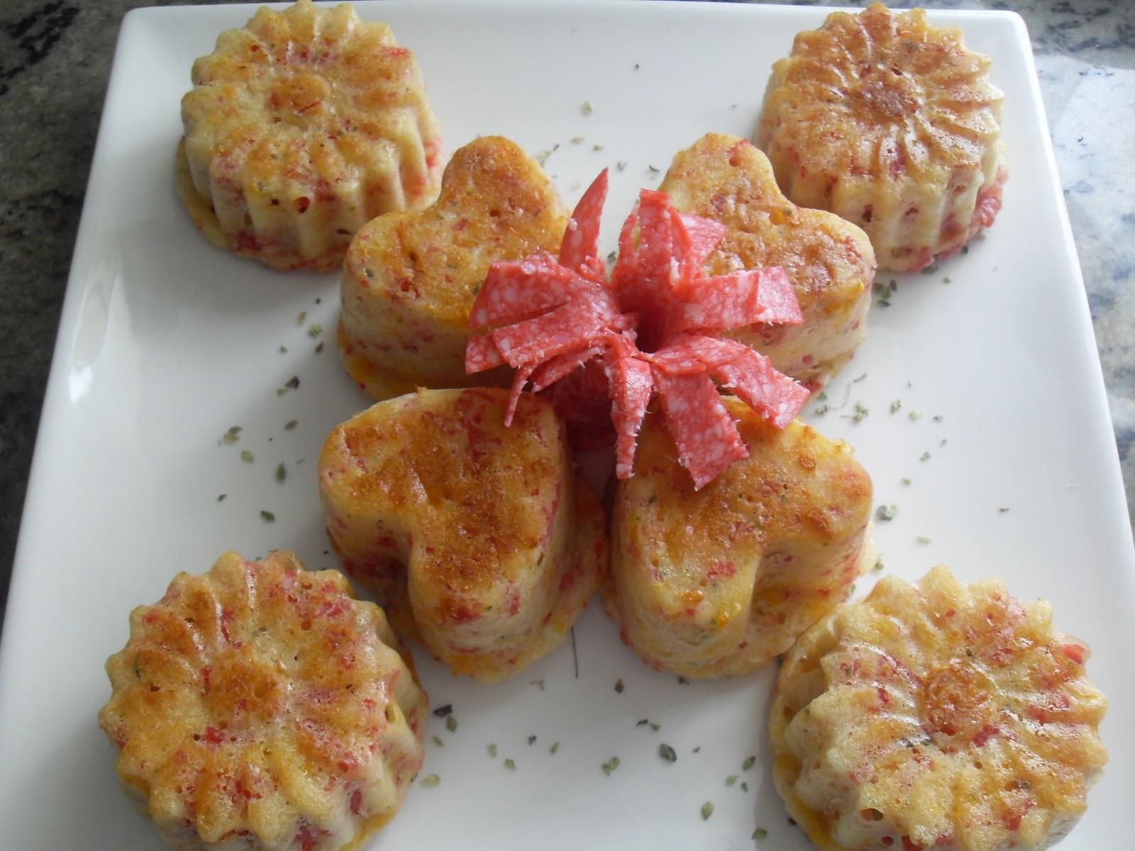 Muffins de peperoni