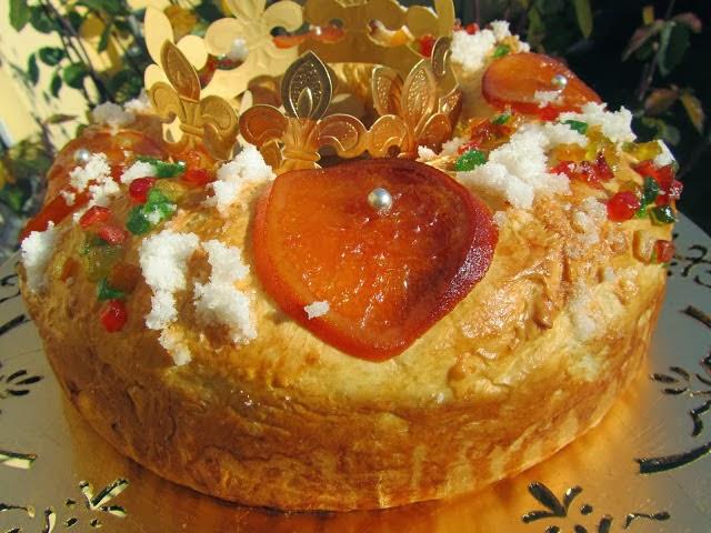 Roscón de Reyes de pan de leche relleno