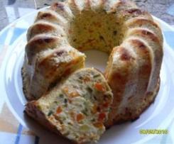 Pastel bicolor de verduras