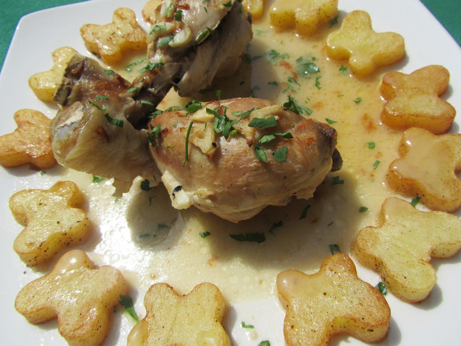 Muslitos de pollo al ajillo Thermomix
