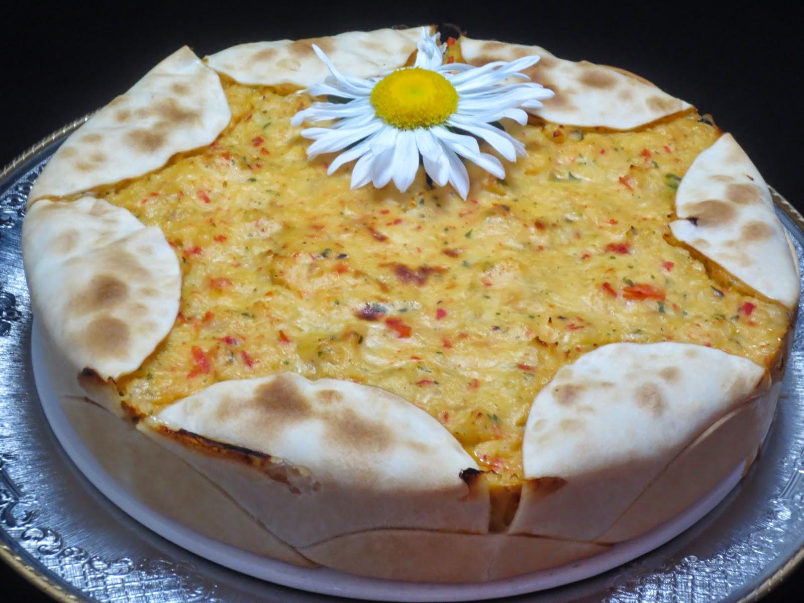Pastel empanadilla de merluza y gambas