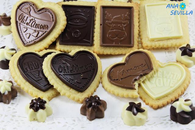 Galletas de coco y chocolate