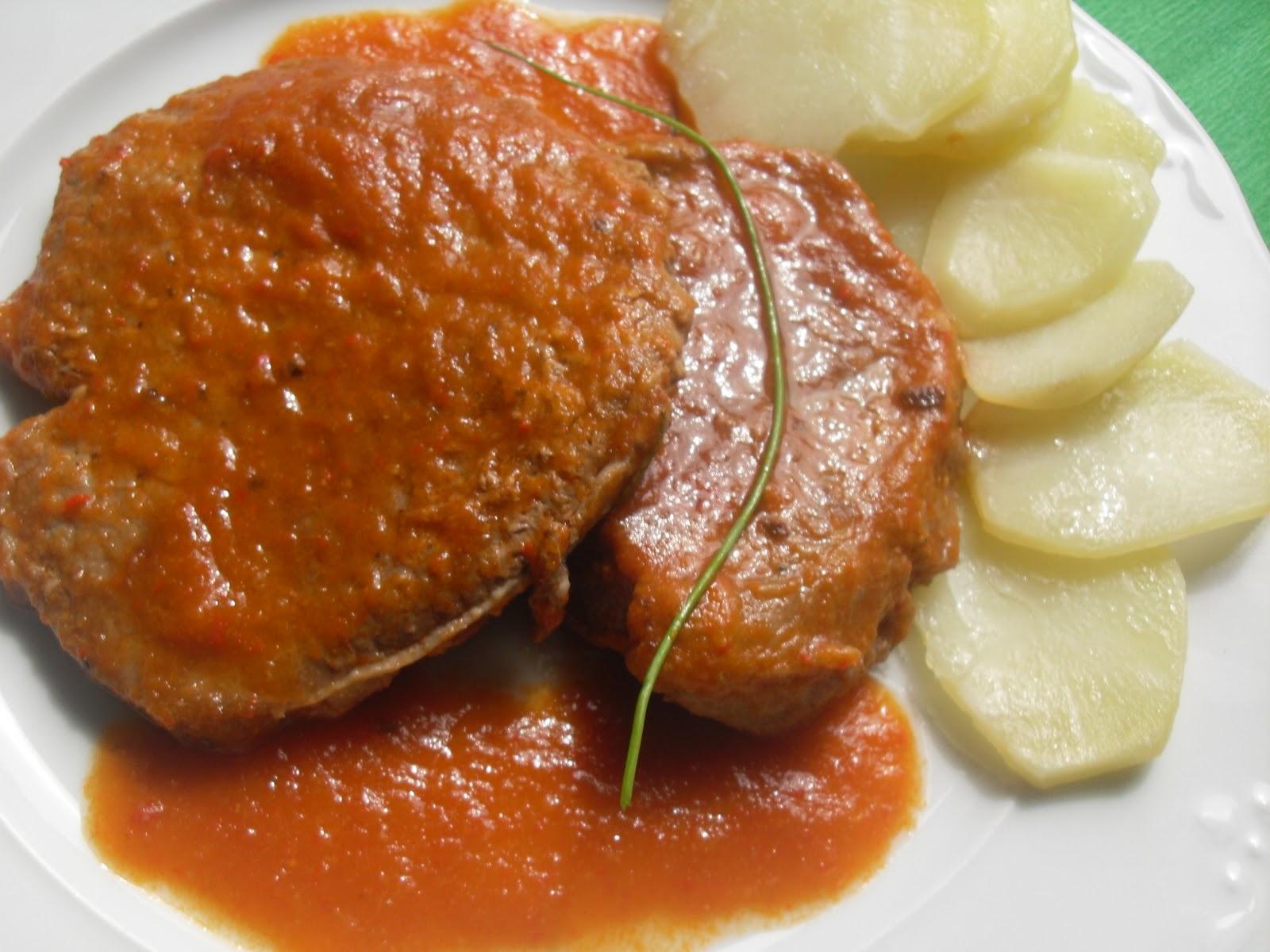 Filetes de ternera en salsa Thermomix