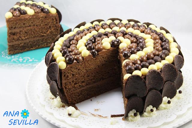 Tarta buttercream de chocolate
