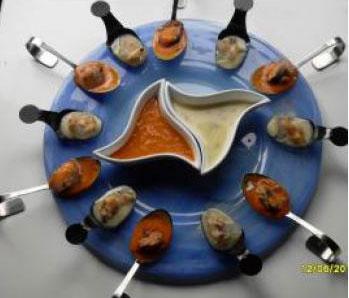 Bombones de mejillones,almejas y berberechos