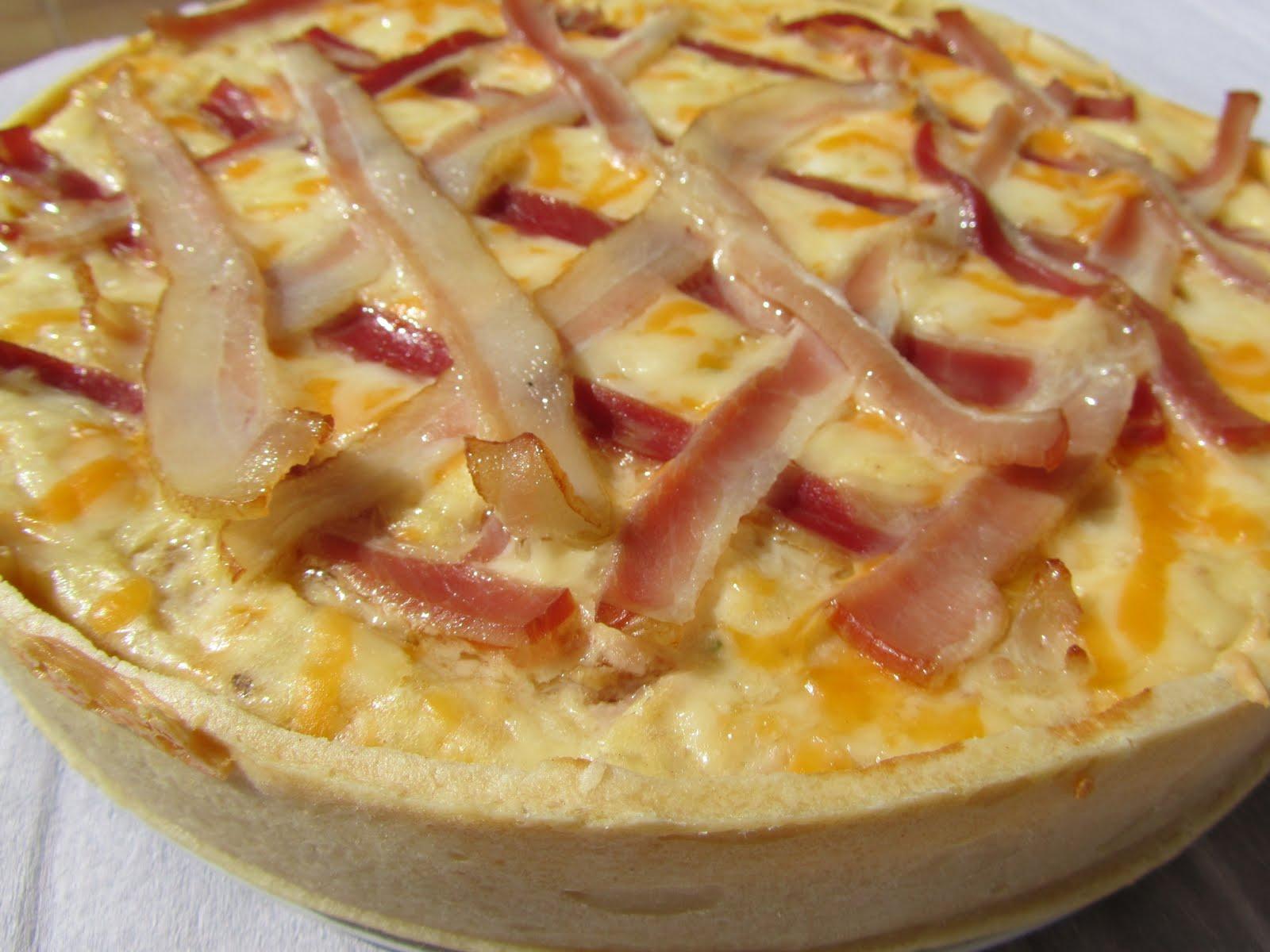 Quiche de croque-pizza