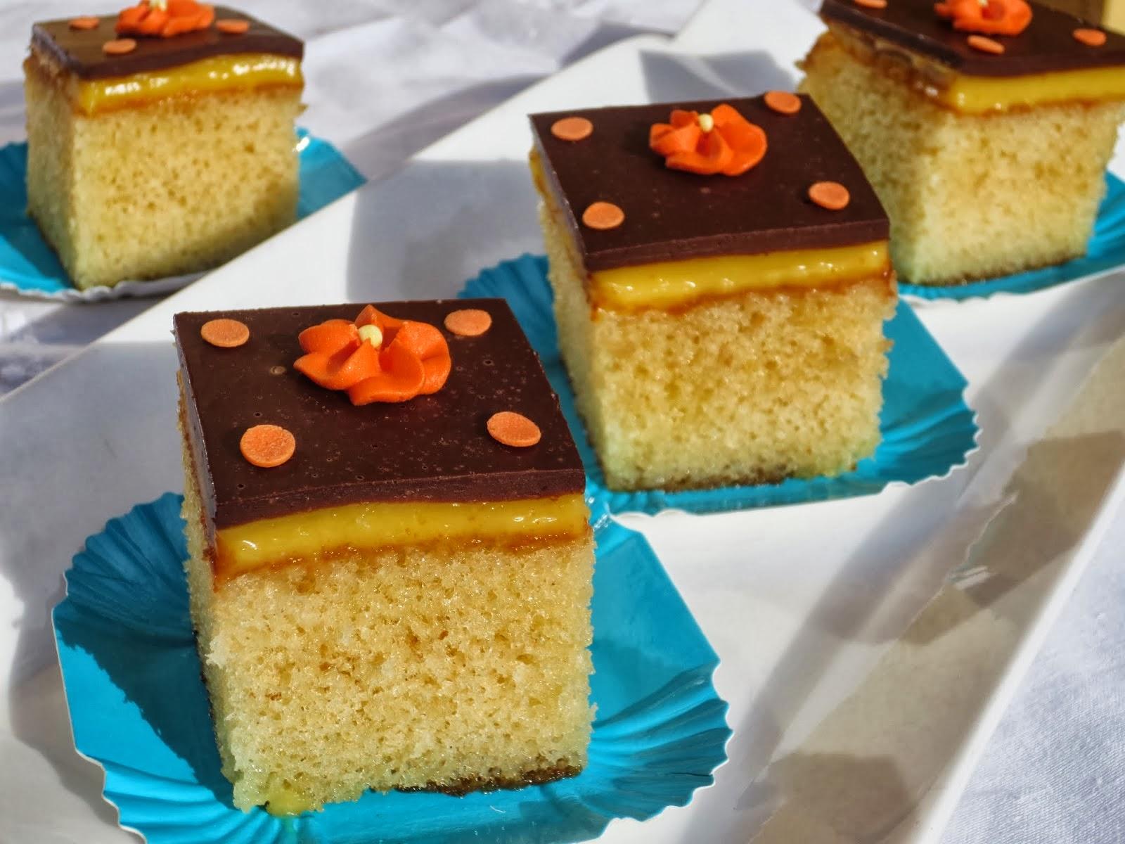 Borrachines de naranja y chocolate