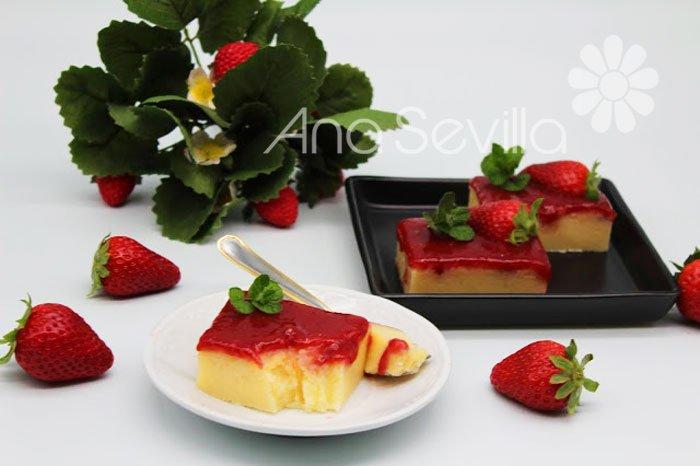 Bocaditos de yogur y fresa