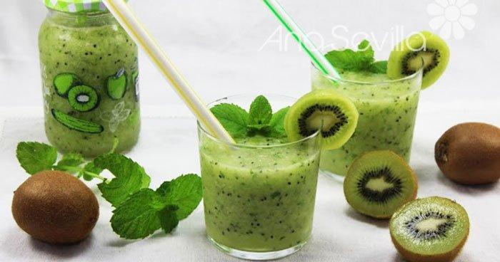 Mojito de kiwi (Con o sin alcohol)