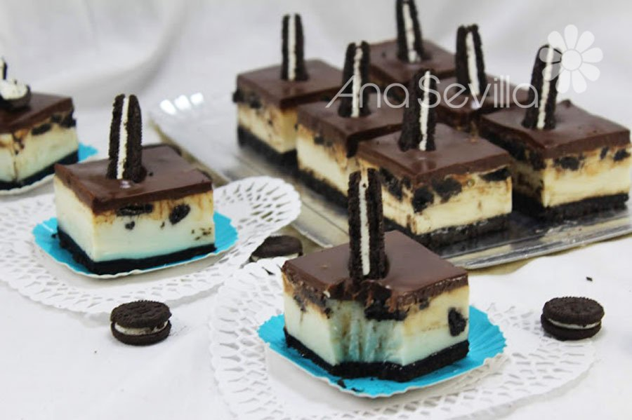 Pastelitos cheesecake oreo