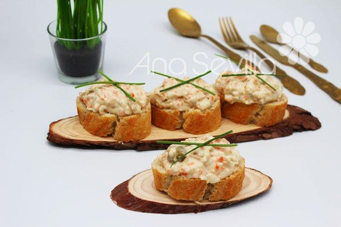 Pincho de atún y mayonesa