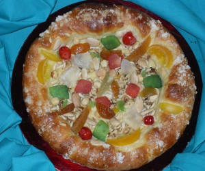 Pizza de Reyes dulce Thermomix