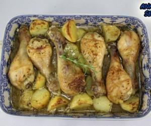 Jamoncitos de pollo al ajillo