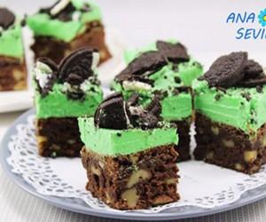 Oreo mint brownie