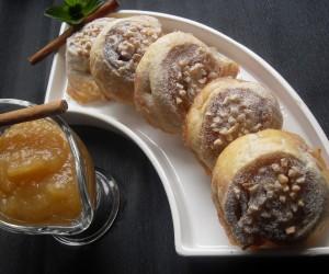 Caracolas de compota de manzana Thermomix