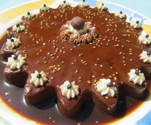 Flan de chocolate sin horno