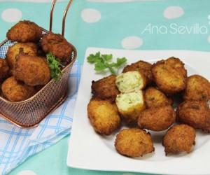 Buñuelos de bacalao y patata