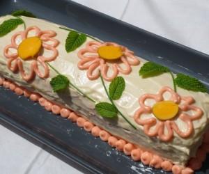 Pastel frío de pan de molde