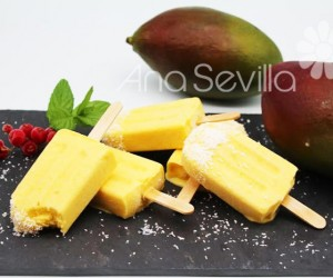 Helado de mango y coco