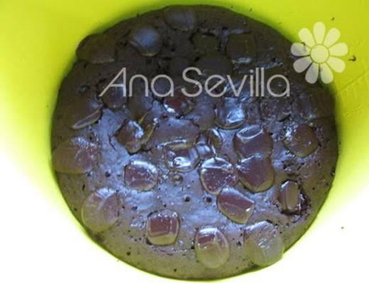 coca de chocolate horneada