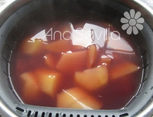 Patatas cocidas con el agua del pulpo