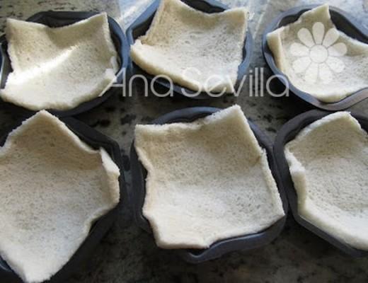 Moldes con pan
