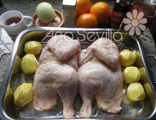 Semi-hornear el pollo