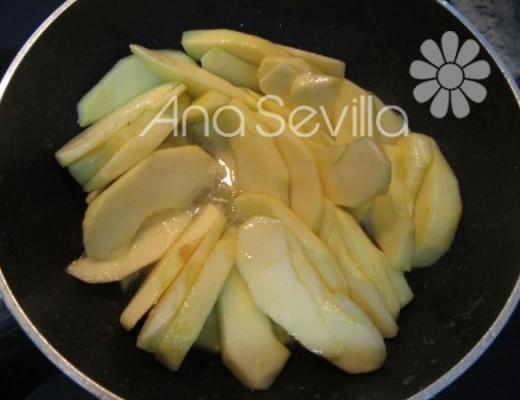 Caramelizar las manzanas