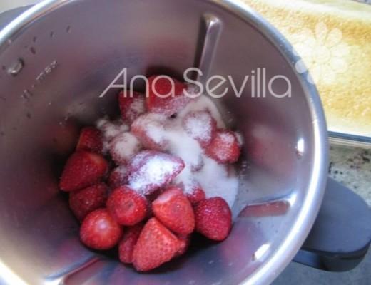 Hacer el coulis de fresa