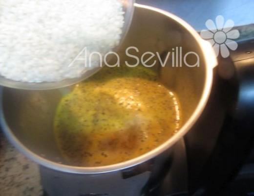 Añadir el arroz