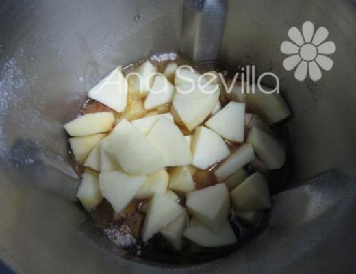 Triturar con la manzana