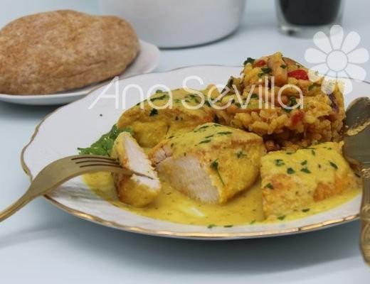 Solomillo de pavo e salsa de almendras Mambo