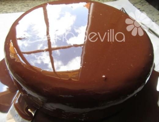 Glaseado espejo de cacao