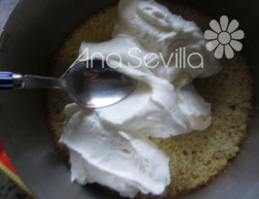 Extender en capas la mousse de nata