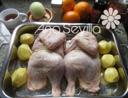 Preparar el pollo para hornear