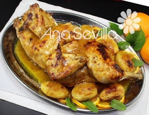 Pollo glaseado a la naranja en Mambo