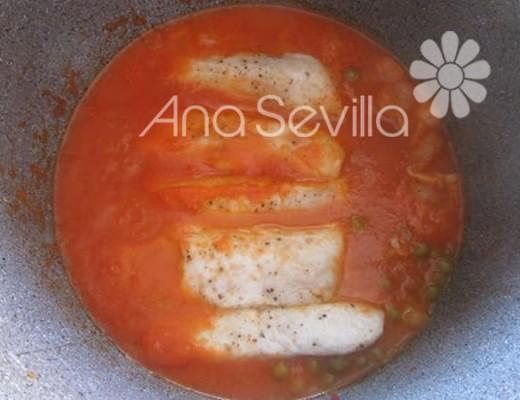 Merluza en salsa navarra olla GM