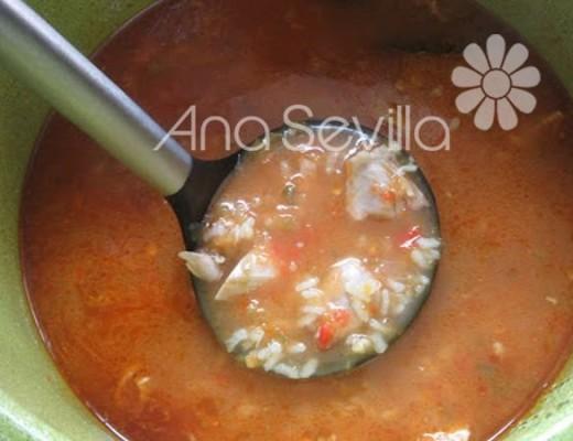 Sopa de arroz con verduras olla GM